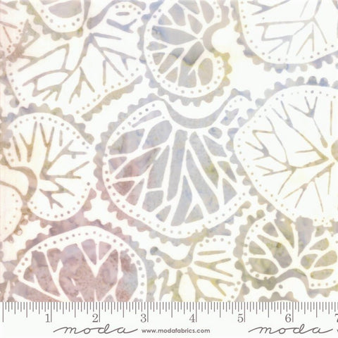 Moda Bahama Batiks 4352 38 White Sand Leaf Collage By The Yard