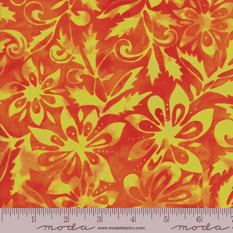 Moda Santorini Batiks 4355 34 Orange Sunset Bougainvillea By The Yard