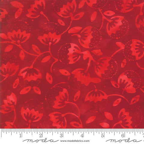 Moda Santorini Batiks 4355 38 Red Sunset Euforbia Buds By The Yard