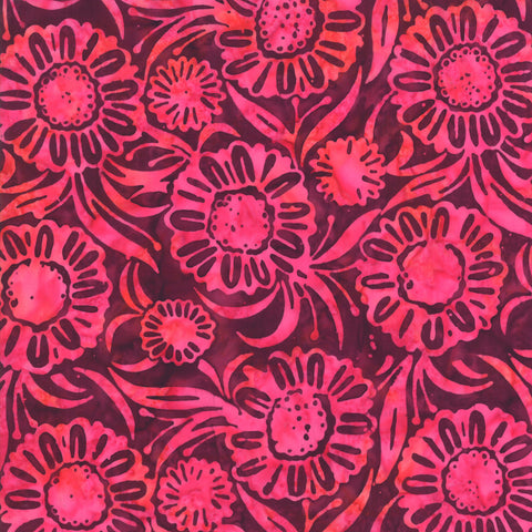 Moda Aloha Batiks 4356 16 Pink Sunflowers By The Yard