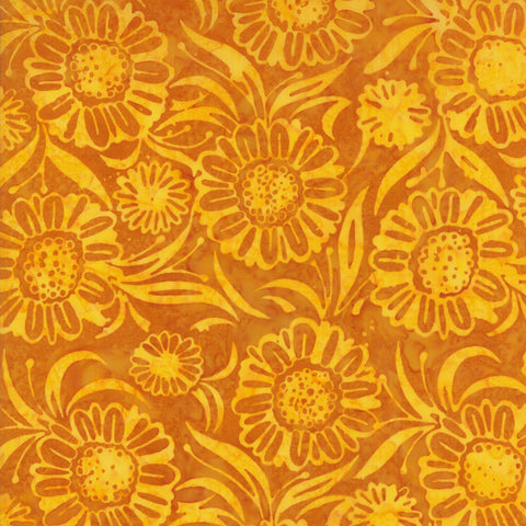 Moda Aloha Batiks 4356 27 Sunshine Sunflowers By The Yard