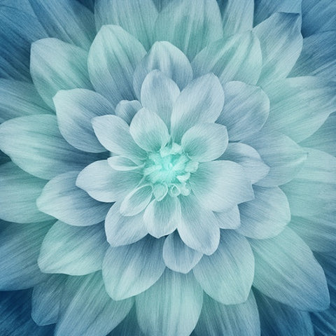 "Hoffman Dream Big 4389 61 Flora Turquoise 43"" Panel By the Panel (not by the yard)"
