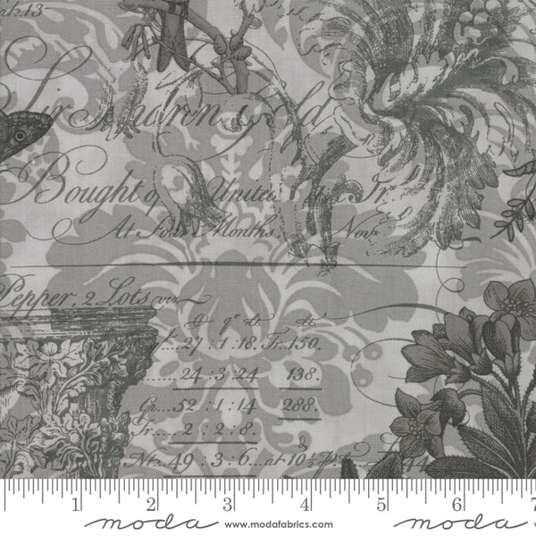 Moda Memoirs 44210 22 Silver Ephemera Collage By The Yard