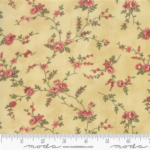 Moda Memoirs 44213 17 Gold Romantic Blooms By The Yard
