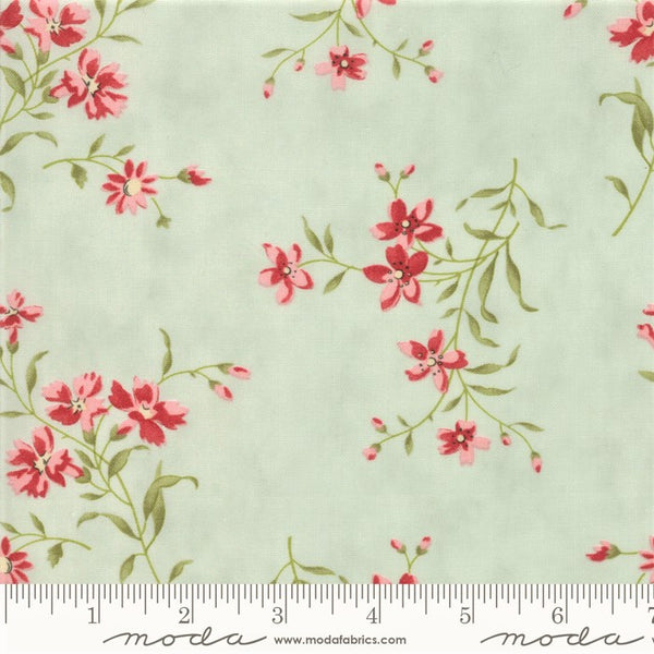 Moda Rue 1800 - 44223 13 Robins Egg Nicolette Floral By The Yard