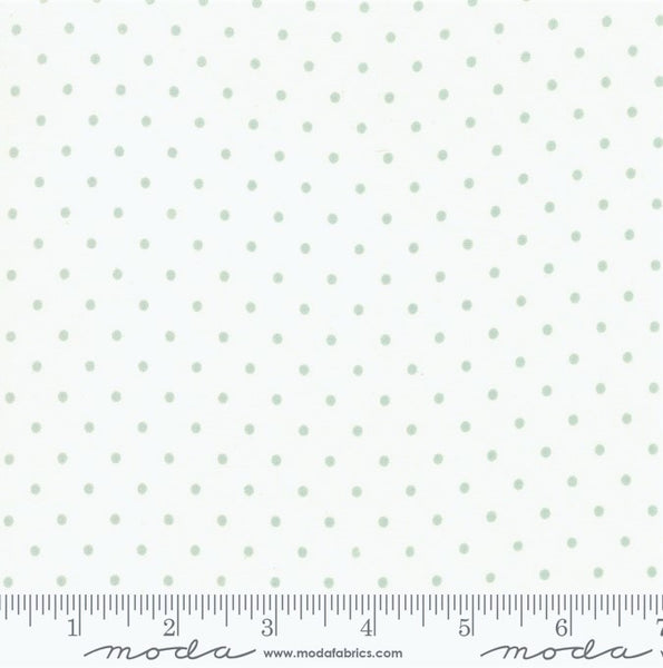 Moda Rue 1800 - 44228 21 Porcelain Robins Egg Felicity Dots By The Yard