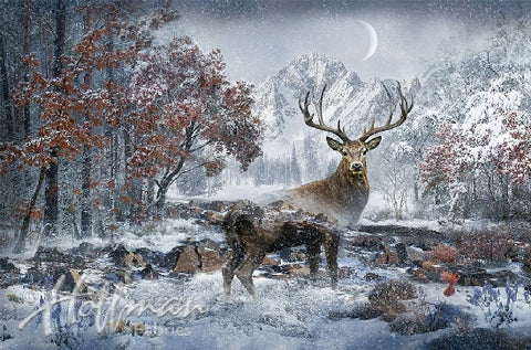 Hoffman Call Of The Wild 4460 597 December 3/4 Yard Panel By the Panel (not by the yard)