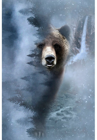 "Hoffman Digital Print Call Of The Wild 4594 147 Storm Bear 28 1/2"" Panel By the Panel (not by the yard)"