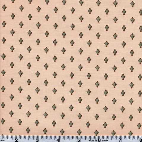 Moda Preservation 46237 12 Tiny Blue Floral On Beige By The Yard