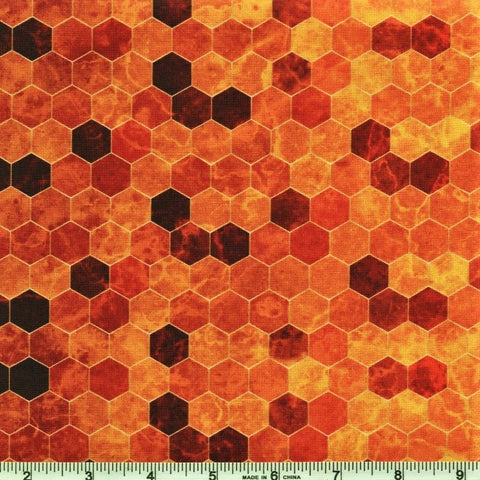 Hoffman Digital Print Backsplash 4762 118 Honey Ombre Hexagon Tile By The Yard