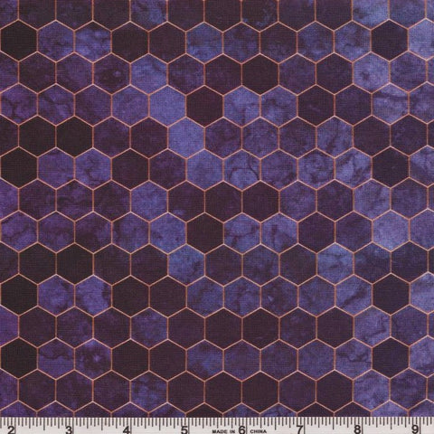 Hoffman Digital Print Backsplash 4762 14 Purple Ombre Hexagon Tile By The Yard