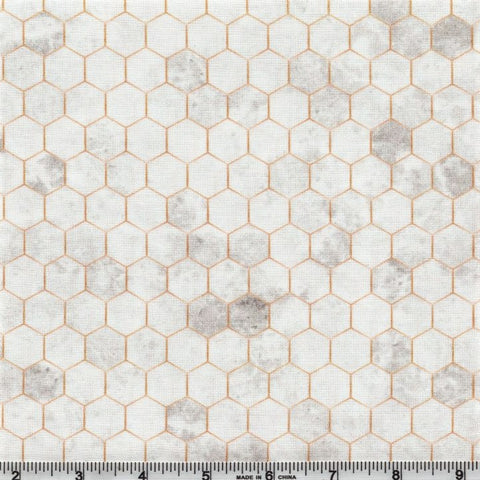 Hoffman Digital Print Backsplash 4762 48 Grey Hexagon Tile By The Yard