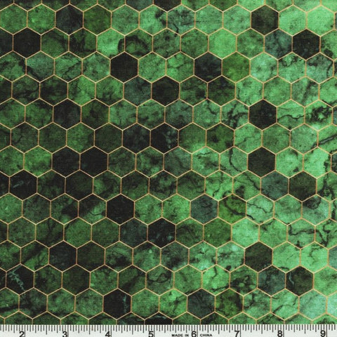 Hoffman Digital Print Backsplash 4762 522 Seagrass Ombre Hexagon Tile By The Yard