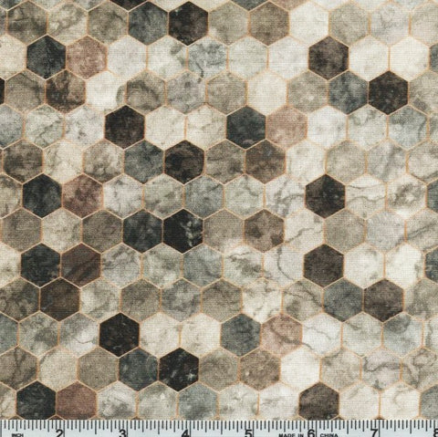 Hoffman Digital Print Backsplash 4762 584 Granite Ombre Hexagon Tile By The Yard
