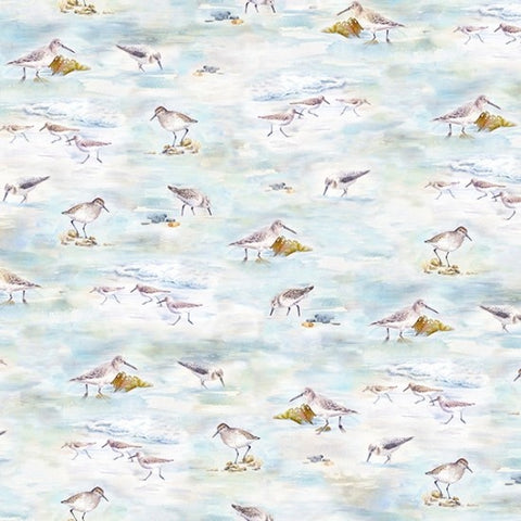 Hoffman Digital Print Shoreline Stories 4802 294 Sandpiper Shore Birds By The Yard