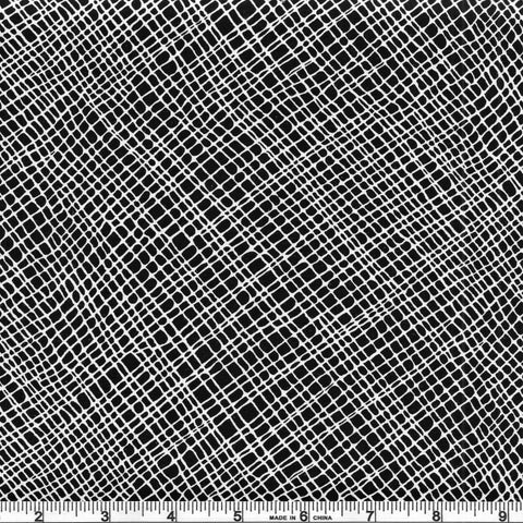 Moda Thicket 48204 24 Crosshatch Black/Natural By The Yard