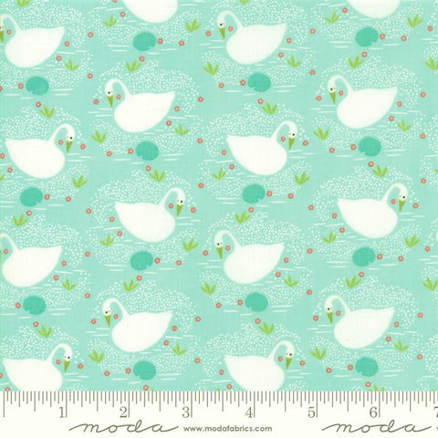 Moda Enchanted 48252 13 Dewdrop Swans By The Yard