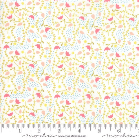 Moda Enchanted 48254 21 Blush/Cloud Flower Vines By The Yard