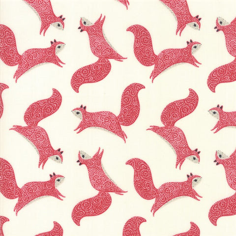 Moda Bramble 48283 11 Cream/Red Squirrels By The Yard