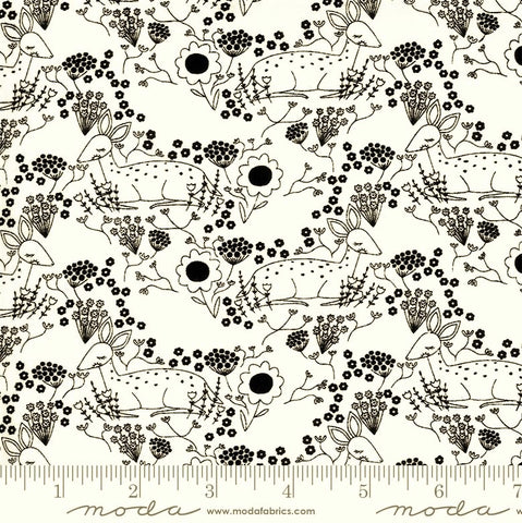 Moda Dwell In Possibility 48313 19 Ivory/Night Meadow Deer By The Yard