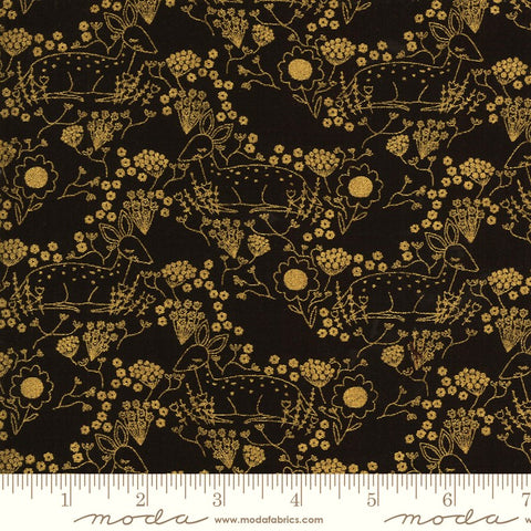 Moda Metallic Dwell In Possibility 48313 34M Night Meadow Deer By The Yard