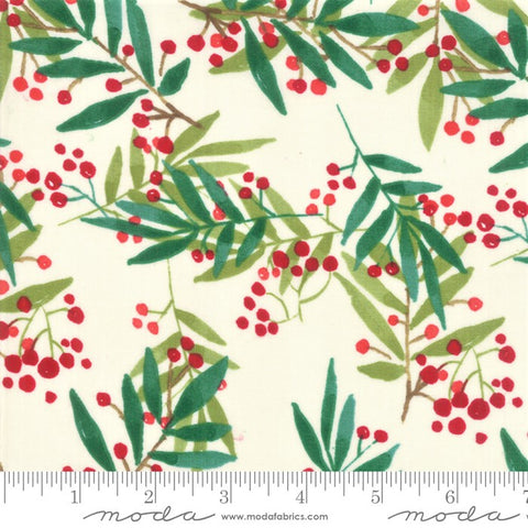 Moda Splendid 48652 11 Cream Simple Leaf & Berry By The Yard