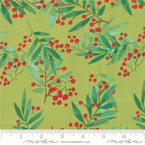 Moda Splendid 48652 15 Leaf Green Simple Leaf & Berry By The Yard