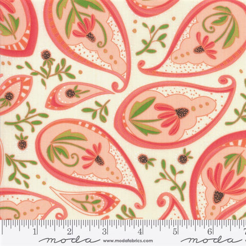 Moda Painted Meadow 48661 11 Cream Coneflower Paisley By The Yard