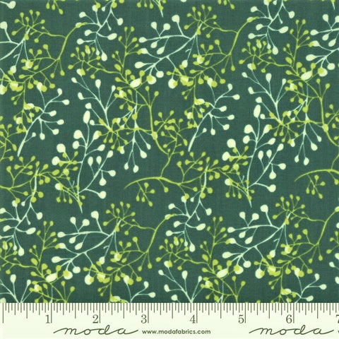 Moda Painted Meadow 48663 12 Teal Little Sprigs By The Yard