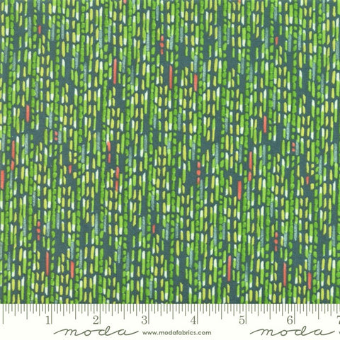 Moda  Painted Meadow 48664 12 Teal Mixed Dash Stripe By The Yard