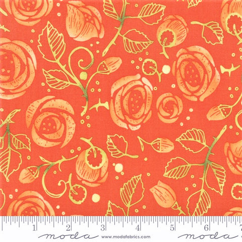 Moda Robin Pickens Abby Rose 48671 13 Citrus Bramble By The Yard
