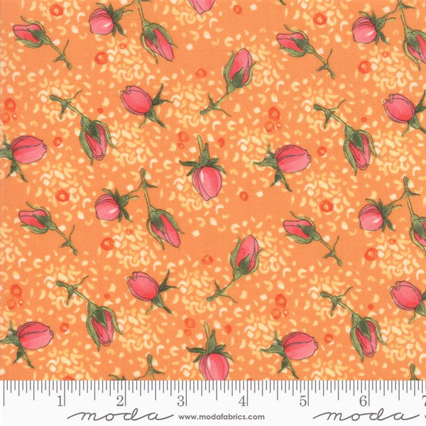 Moda Robin Pickens Abby Rose 48672 13 Citrus Rose Buds By The Yard