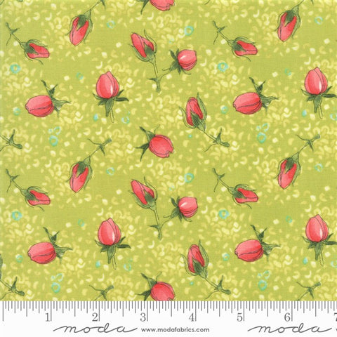 Moda Robin Pickens Abby Rose 48672 14 Greenery Rose Buds By The Yard