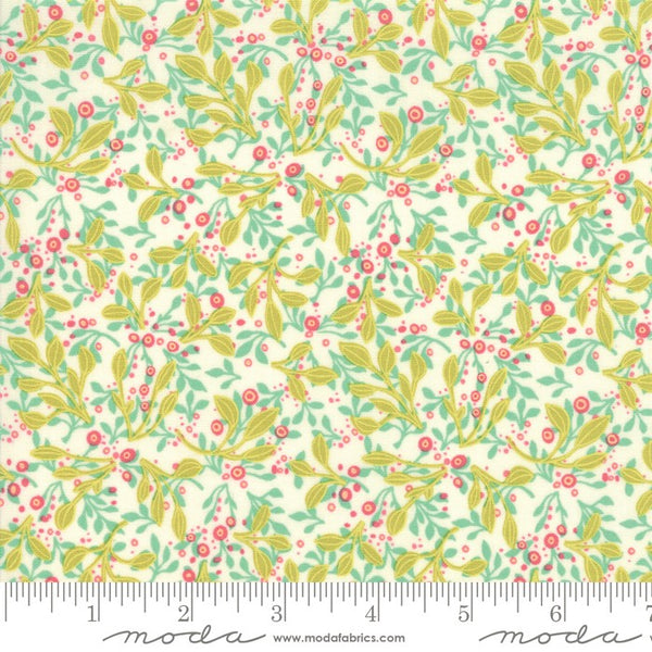 Moda Robin Pickens Abby Rose 48674 11 Cream Tin Leaves By The Yard
