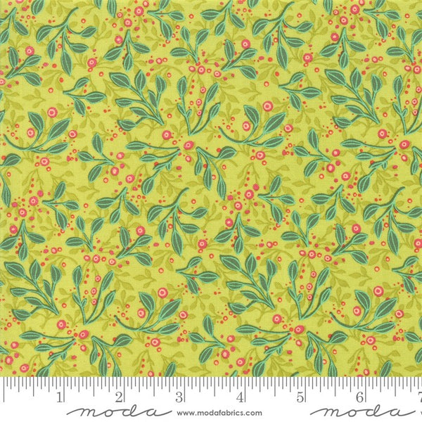 Moda Robin Pickens Abby Rose 48674 14 Greenery Tin Leaves By The Yard