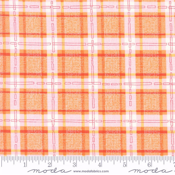 Moda Robin Pickens Abby Rose 48675 13 Citrus Plaid With Ease By The Yard