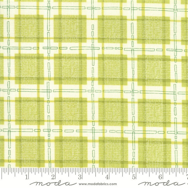 Moda Robin Pickens Abby Rose 48675 14 Greenery Plaid With Ease By The Yard