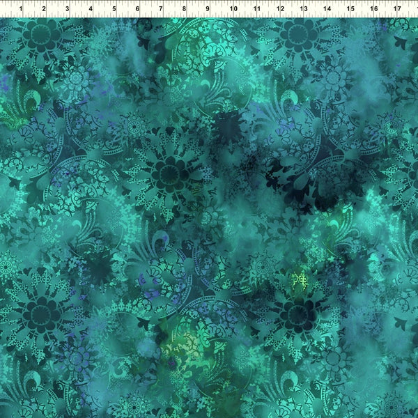 In The Beginning Fabrics Diaphanous 4ENC 1 Teal/Turquoise Envisage By The Yard