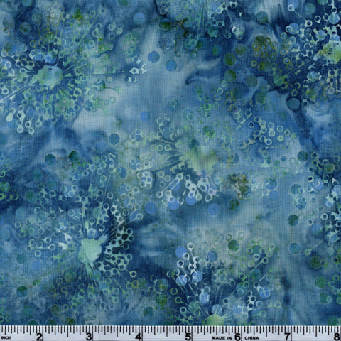 Hoffman Bali Batik BLU 5040 Breakwater Bursts By The Yard