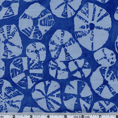 Hoffman Bali Batik BLU 5045 Tide Sand Dollars By The Yard