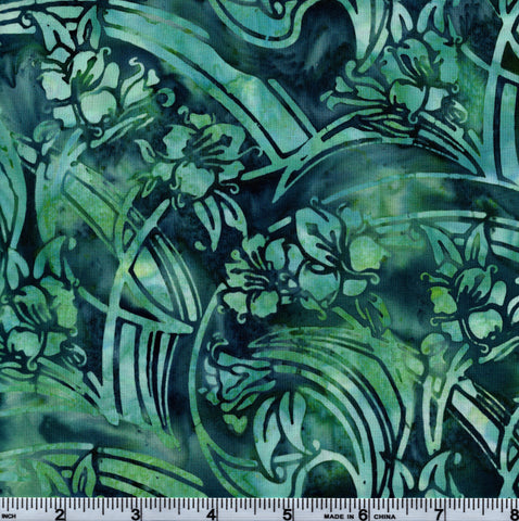 Hoffman Bali Batik TEA 5055 Seaside Hawaiian Swirl By The Yard