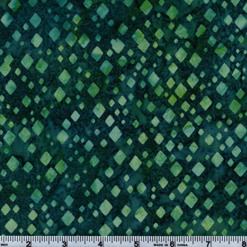 Hoffman Bali Batik TEAL 5057 Seaside Diamond Shower By The Yard