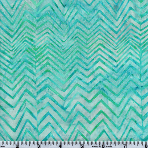 Hoffman Bali Batik TEA 5074 Ocean Mist Teal Zig Zags By The Yard
