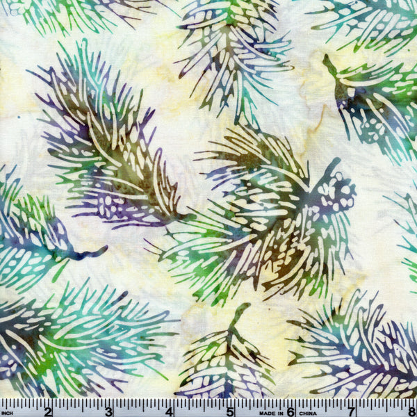 Hoffman Bali Batik MUL 5075 Lustrous Multi Leaf Outline By The Yard
