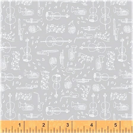 Windham Fabrics Opus 50798 3 Instruments on Grey By The Yard