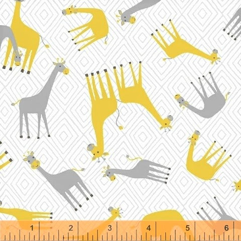 Windham Fabrics Stand Tall 50841 1  Giraffes on Geo By The Yard