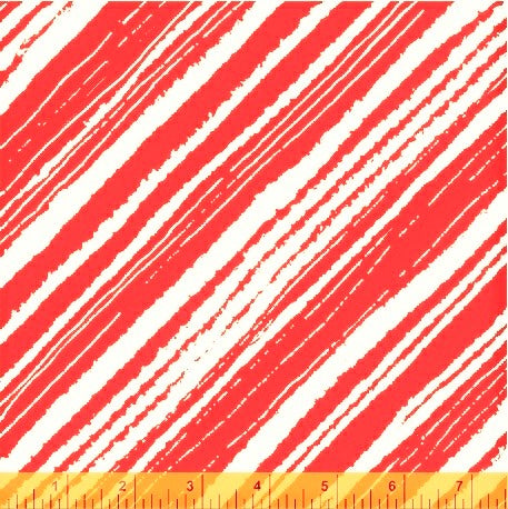 Windham Make Merry 51155 1 Red Modern Candy Cane Stripe By The Yard