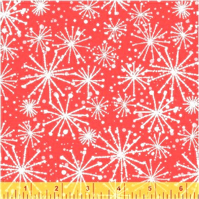 Windham Make Merry 51156 1 Red Snow Starflakes By The Yard