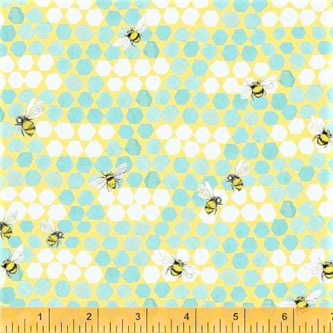Windham My Imagination 51163 2 Aqua Bee Combs By The Yard
