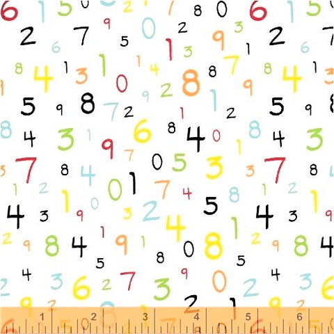 Windham S.T.E.M 51265 2 Floating Numbers White By The Yard